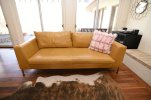 Leather and Fluffy Pillows